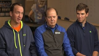 Coach Cutcliffe and the Manning Brothers - 60 Minutes Sports Preview