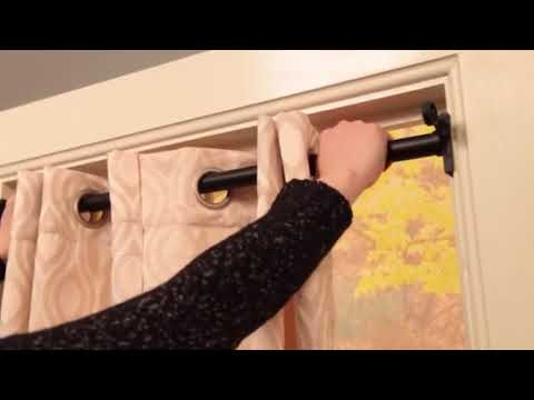 twist fit the no tools curtain rod solution