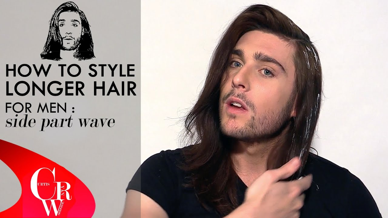 Long Hair For Men Side Part Wave How To  Styling Tutorial - Styling long hair