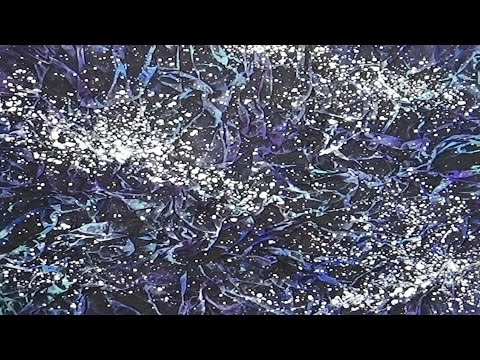 textured acrylic painting fabric of the universe youtube