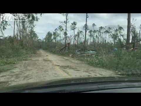 Destruction in Marianna, Florida, after Hurricane Michael