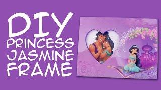 DIY Disney Princess Jasmine Frame: (Disney Fandom) a CraftyMcFangirl.com Tutorial