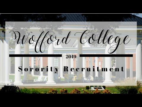Wofford College Sorority Recruitment Vlog 2019