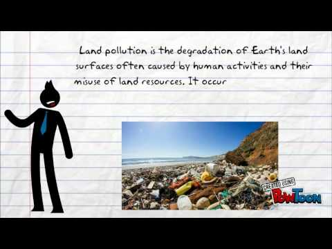 Definition of land pollution youtube for Soil pollution definition