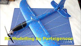 dIY Переделываем детский планер в р/у самолет (glider Multiplex Fox turned to RC plane)