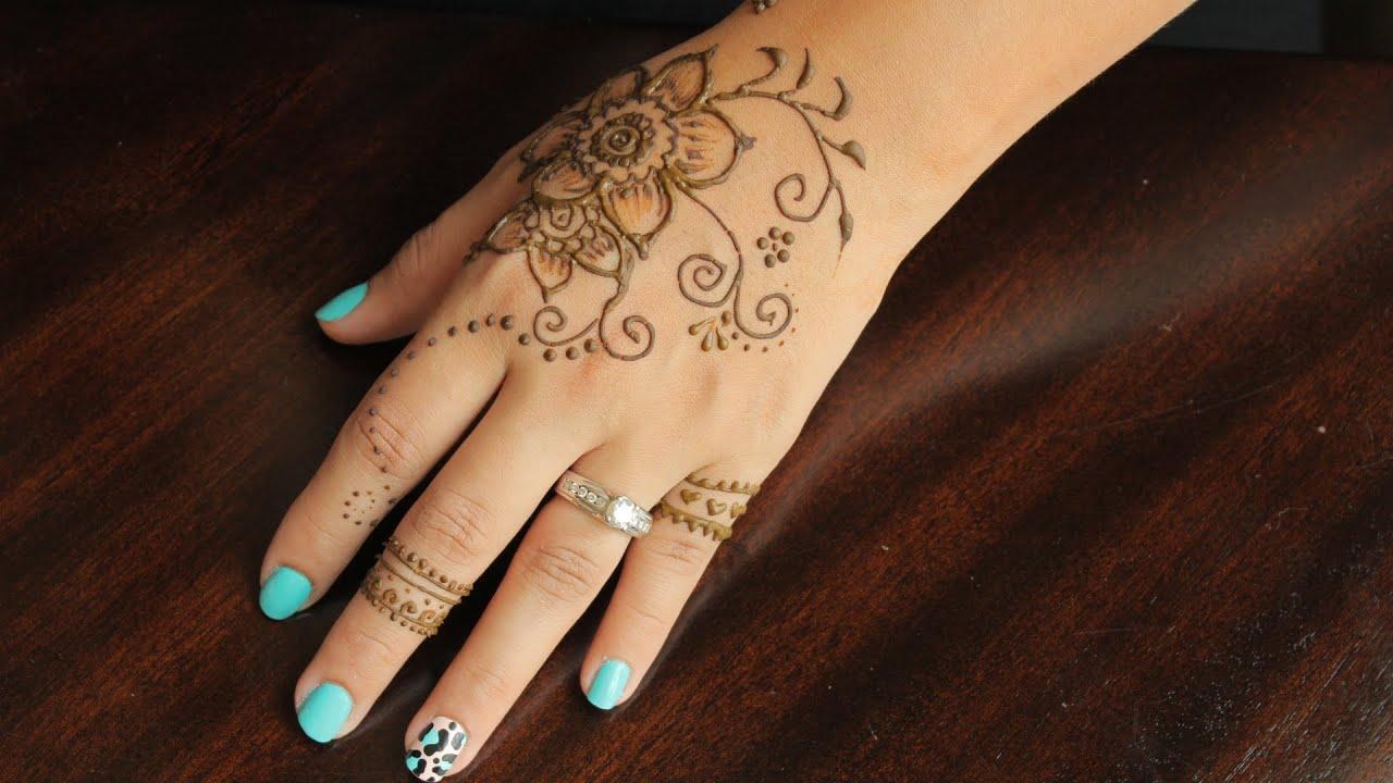 Beautiful & Easy Henna Tattoo Tutorial #4 - YouTube