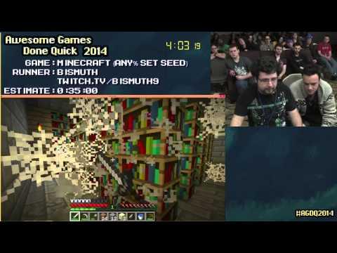 Minecraft [PC] :: SPEED RUN (0:16:40) By Bismuth #AGDQ 2014