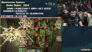 Minecraft [PC] :: SPEED RUN (0:16:40) By Bismuth #AGDQ 2014