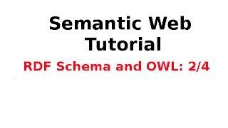 Tutorial on semantic web technologies (1).