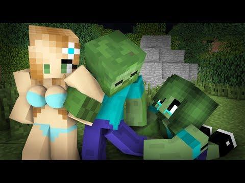 Zombie Sad Life Episode 1- Minecraft Animation