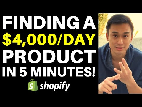 INSANE Shopify Winning Product Research Strategy That Found Me A $4,000/Day Product In 5 Minutes! thumbnail