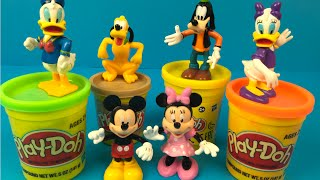 Playdoh Mickey Mouse Clubhouse with Play - Pluto Daisy Duck Disney  Minnie Mouse Farm Animals Zoo