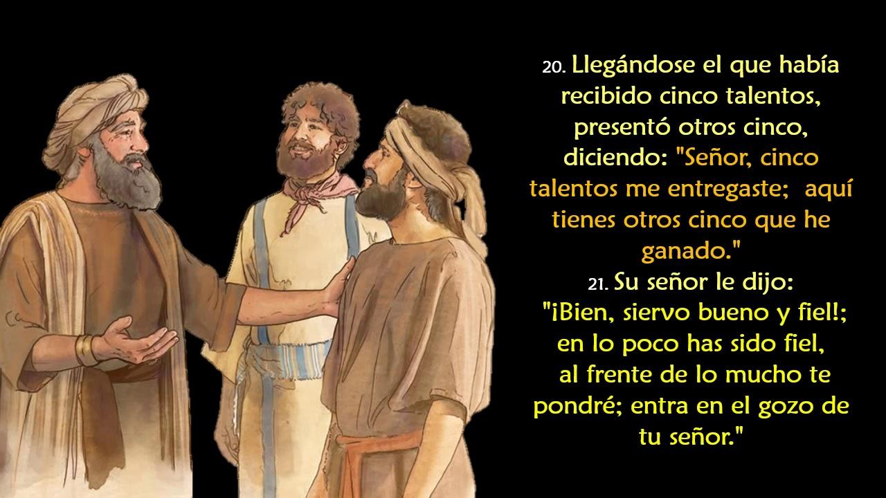 Evangelio Según San Mateo 25 14 30 Youtube
