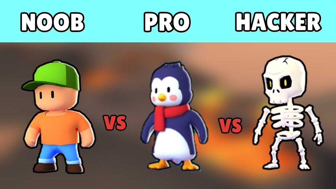 Download NOOB vs PRO vs HACKER Stumble Guys