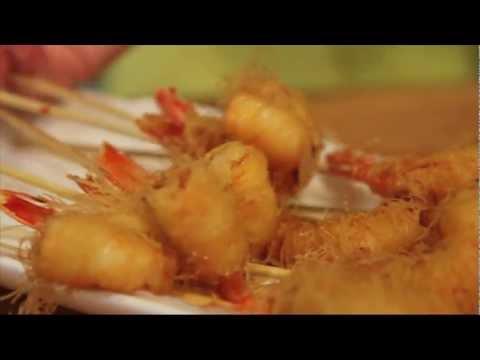 Shrimp Wrapped in Kataifi Phyllo, GARIDES KATAIFI: GreekRecipes.tv Patricia