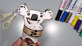 איך מכינים דב קואלה מחבק מגליל נייר טואלט - סדנת יצירה לילדים