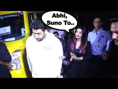 Abhishek Bachchan ANGRY with wife Aishwarya Rai?