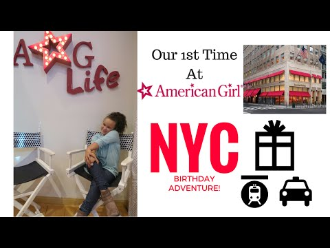 1ST TIME AT THE AMERICAN GIRL STORE! | KAYLA'S BIRTHDAY ADVENTURE! | NYC Vlog
