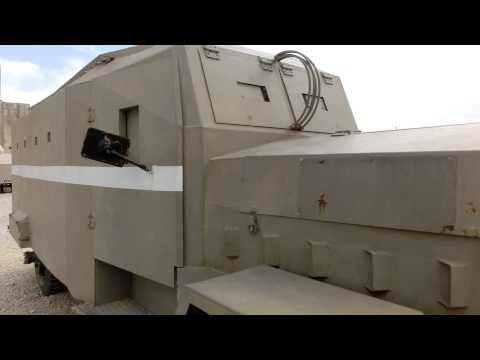 """1940s Jewish settlers Homemade """"Sandwich"""" armored vehicles used in British Palestine"""