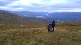 Camping in Scotland Part 4 - Nevis Mountain Range Breathtaking View - Fort William August 2016