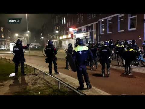 LIVE: Anti-lockdown protests continue in Rotterdam after day of riots