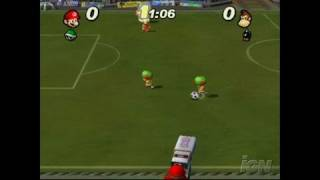 Super Mario Strikers GameCube Gameplay - Dk takes the