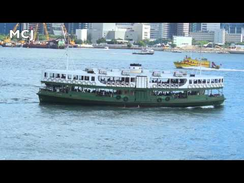 Star Ferry Boat Company Departure from Kowloon Side to Hong Kong Island