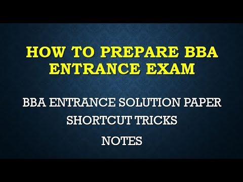 BBA ENTRANCE SOLUTION PAPER 2016 P5 ONLINE +LIVE CLASSES STUDY MATERIALS  LECTURE SERIES