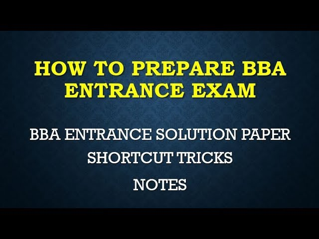 Bba Entrance Solution Paper 2016 P5 Online Live Classes Study Materials Lecture Series Youtube
