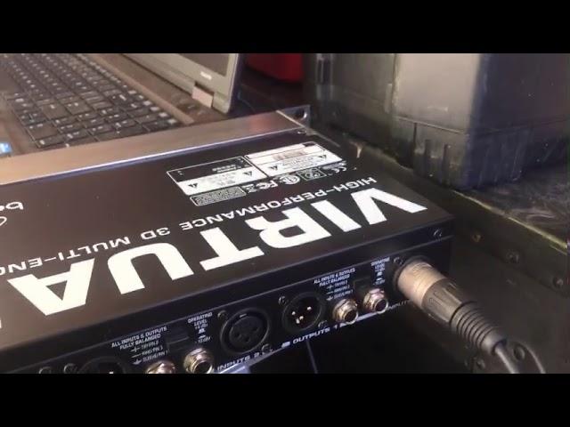 Behringer FX2000 virtualizer 3D codificación desde 0 por sonido baby los Angeles california