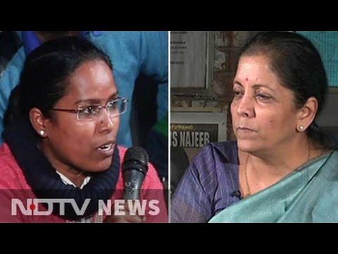 JNU Students Take On Minister Nirmala Sitharaman Over Missing Student