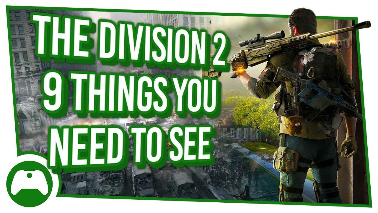 9 Dinge, die Sie sehen müssen, und 1 exklusive Zone der dunklen Zone in der Division 2 | Xbox One + video