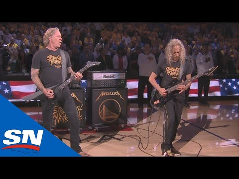 Mel Taylor - Metallica Perform The Star Spangled Banner Before Game 3 - 2019 NBA Finals