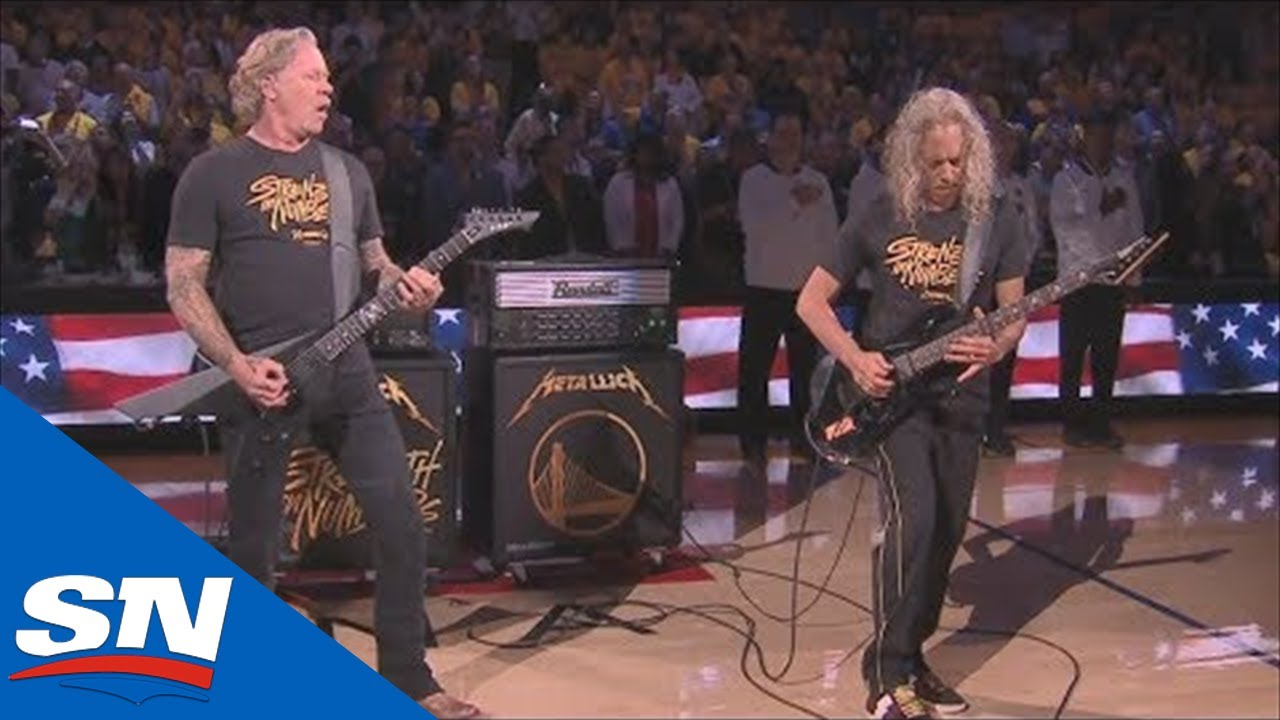 Metallica Perform The Star Spangled Banner Before Game 3 of the 2019 NBA  Finals