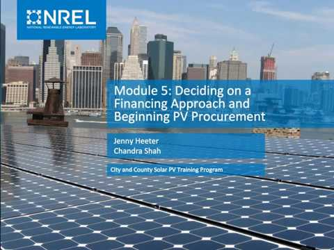 City And County Solar PV Training Program: Module 5