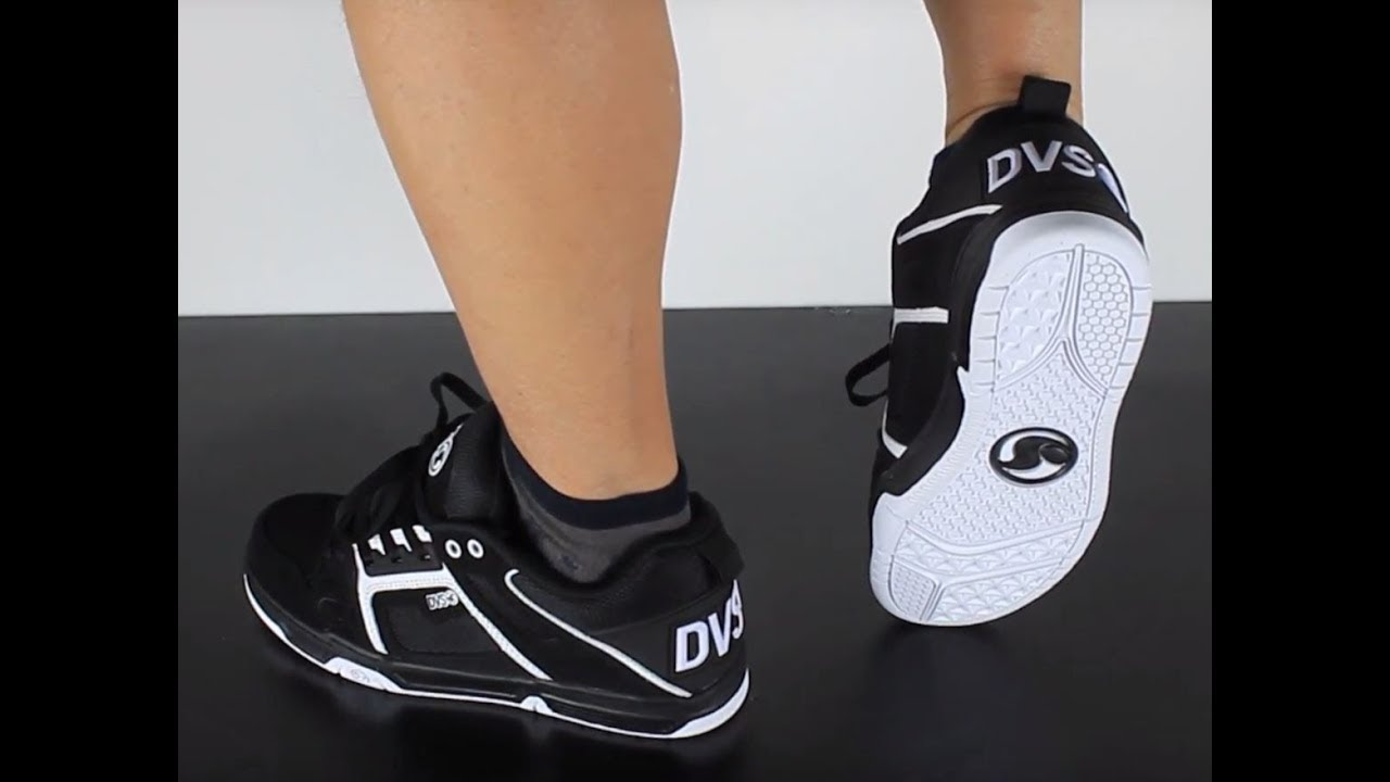 DVS COMANCHE black white leather - YouTube