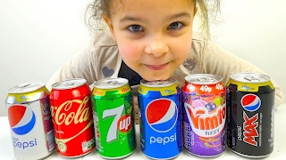 Surprise Color Drinks Learn Colors With Soda Fanta and Fanta for Children, Toddlers and Babies