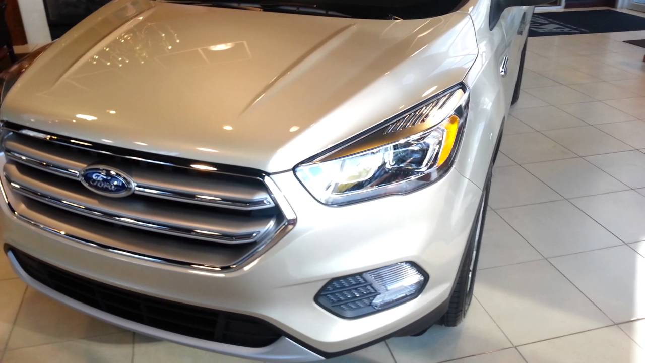 Ford Escape Ecoboost >> All new color White Gold Metallic for 2017 - YouTube