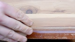 Sanding A Cedar Chest: Hand Sanding The Edges
