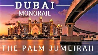 Dubai The Palm Jumeirah Monorail Front Window View, Ride From Atlantis The Palm To Gateway Station