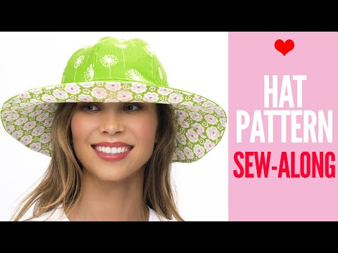 How to Make a Hat | Sun Hat Sew Along by TREASURIE