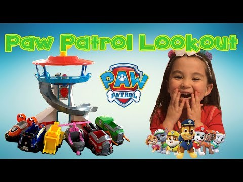 PAW PATROL Lookout Tower Set with Vehicles | Cathleen's Toy Review