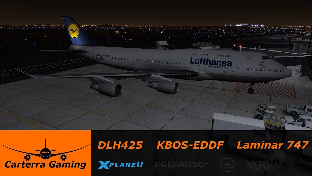 DLH425 | KBOS-EDDM | Default 747 | X-Plane 11 | Putting the default 747 to  work