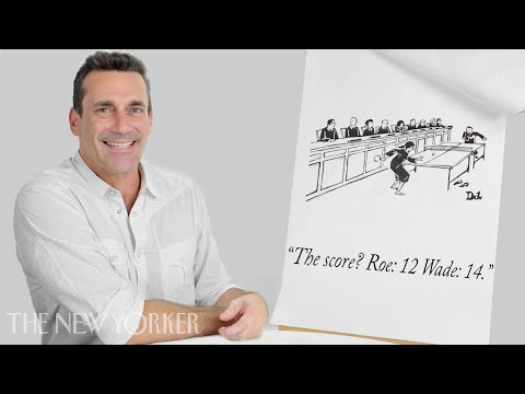Jon Hamm Enters The New Yorker Cartoon Caption Contest  The New Yorker