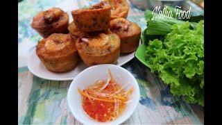 Bánh Cóng Sóc Trăng /Bánh Cống, giòn xốp thơm ngon || Fried shrawn meat cake || Natha Food