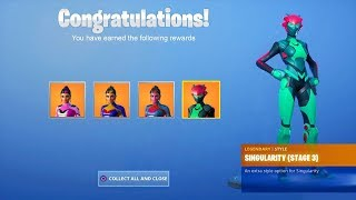 How to Unlock ALL SINGULARITY SKIN STAGES in Fortnite! (All Singularity Helmet Locations)