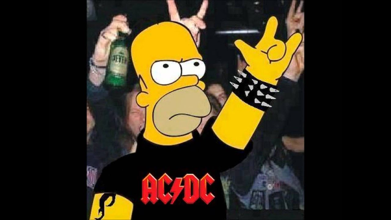 AC/DC Highway to hell- The Simpson - YouTube