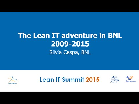 The Lean adventure of BNL IT department: An amazing Lean IT story