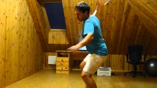 Shadow swing backhand