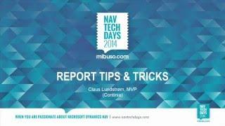 NAV TechDays 2014 - Report Tips & Tricks